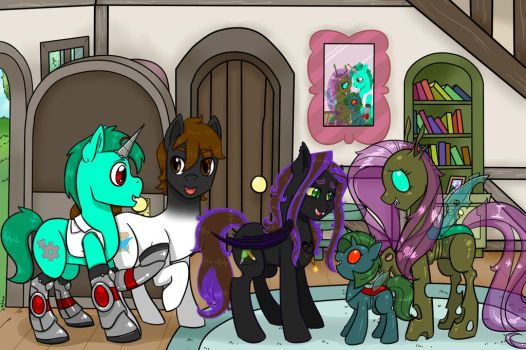 Coppercog Family by tejedora