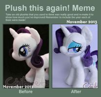 Plush this again Rarity by Chibi-pets