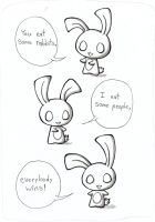 Chui Bunny comic 1 by Akakoneko