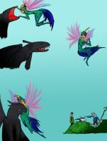 Tooth and Toothless by Kitty-Olenic