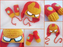 Iron Man Set: Hat + Mittens by argentinian-queen