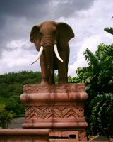 Elephant Statue 3 by Confussed-Stock