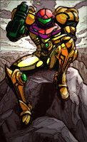 Samus Aran Coloured by bakkeby