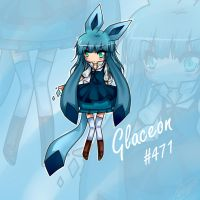 Glaceon Human Form by SkyFireSinger