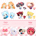 Pre order keychain badge by SugerMiki