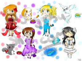 Birthstone adoptables 25-80 points 2/4 open by JigokuShii