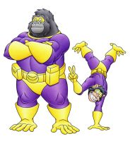 Commission: Simian Superheroes by MatthewSmith