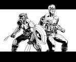 Captain America and Wolverine by bgreen907