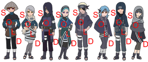 Mixed Ame Naruto Adoptables - SOLD OUT by mistressmaxwell
