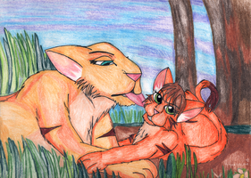 Mother and Kitten.x by TMNTISLOVE