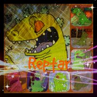 ( Rugrats ) Reptar Collage by KrazyKari
