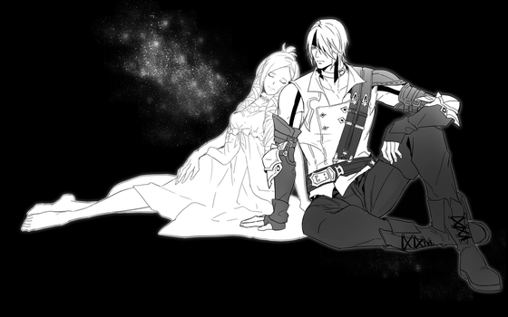 Thancred and Minfilia by tksnim