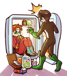 DC: the Flash in refrigerator by dwandwan