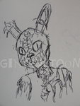 Nightmare Springtrap by ginacartoon