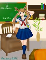 Eevee Schoolgirl by DannimonDesigns