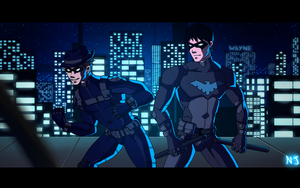 Ronin and Nightwing: Ready For Action! by Dkalban