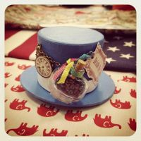 Alice in wonderland inspired mini tophat by Coffee-Brown