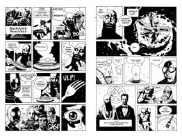 RASPUTIN'S PANCAKES SPREAD INKS by future-parker