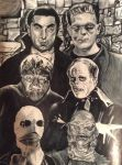 Universal Monsters complete by radec223