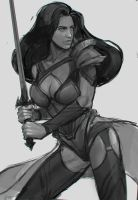 woman warrior  WIP by sheer-madness