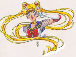 - Super Sailor Moon - |colour| by nephrite-butterfly