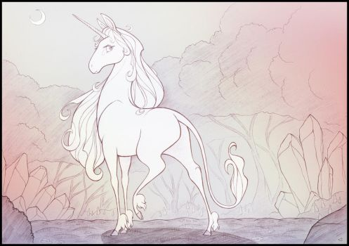 Amalthea Sketch by sherwoodwhisper