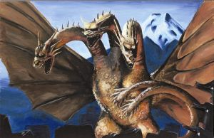Gfest '09 Ghidorah by KillustrationStudios