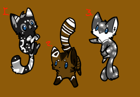 Kitten adoptables batch 4taken by Apriifox