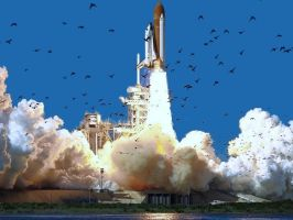 Space Shuttle Challenger by AzaniaDragon