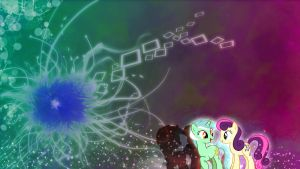 Lyra and Bon Bon Wallpaper Abstract by Tom-The-Rock
