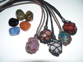 Interchangeable Gemstone Necklace by Bagged-Milk