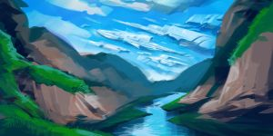 Landscape Sketch by JamesBousema
