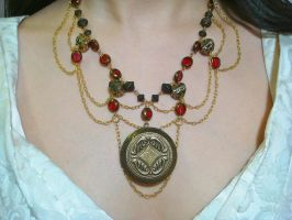 Steampunk Locket Necklace 2 by glassbudgie