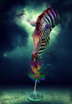 Zebra Composing by Draco-at-DeviantART
