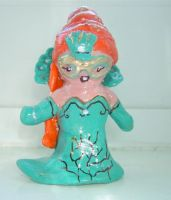 peacock girl figurine by angelicgem