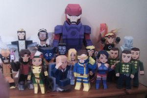 A load of X-Men mypaperheroes by xavierleo