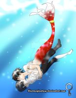 Ereri :AU mermaid: I was saved.... by bluerosefantasy