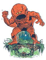 Googam vs Man-Thing by ChrisFaccone