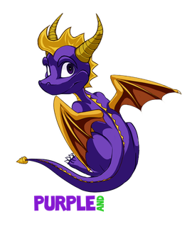 Purple and Proud [Spyro the Dragon] by Erin-Tudball