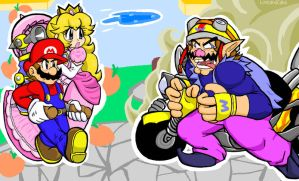 Brawl: Red Team Versus Wario by LoveandCake