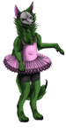 (Gift) The Green wolf in a Tutu by SilintWolf