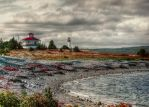 Lighthouse Point in Gabarus Cape Breton island by ShawnaMac