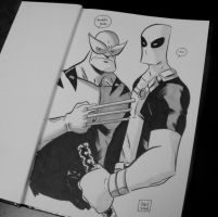 Wolvie and Deadpool by ryancody