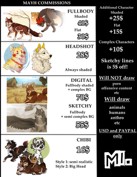Commissions Info by MayhWolf