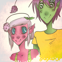 Gayliot and Franface by ImAlmostStillAlive