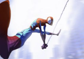 spidey stretch by Dreviator