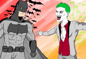 Batman vs Joker by Razanul