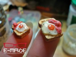Mini eggs toasts by E-made