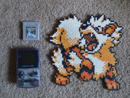Arcanine Bead Sprite by 8bitsofawesome