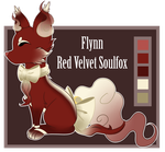 Flynn the Red Velvet Soulfox Reference by iRaincloud